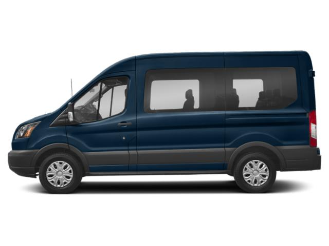 Blue Jeans Metallic 2019 Ford Transit Passenger Wagon Pictures Transit Passenger Wagon T-150 130 Low Roof XLT Swing-Out RH Dr photos side view
