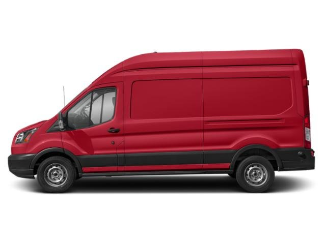Race Red 2019 Ford Transit Van Pictures Transit Van T-250 148 Hi Rf 9000 GVWR Dual Dr photos side view