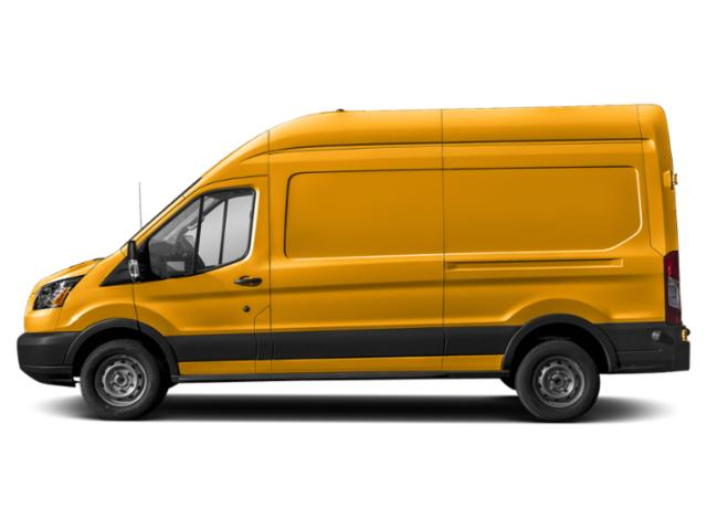 School Bus Yellow 2019 Ford Transit Van Pictures Transit Van T-350 130 Med Rf 9500 GVWR Dual Dr photos side view