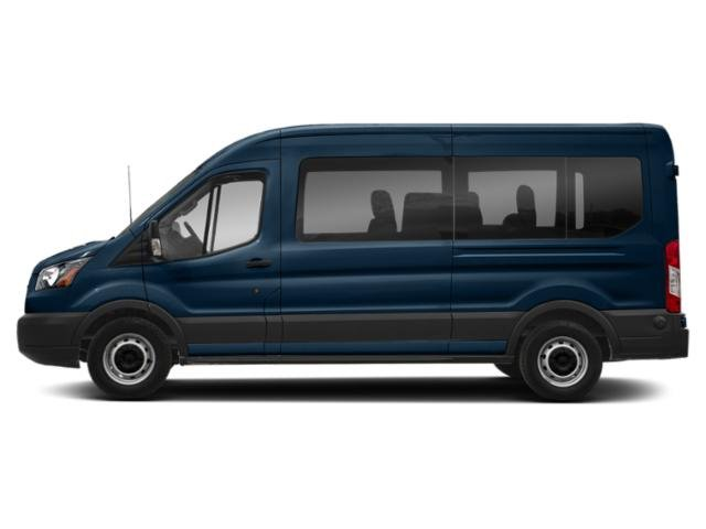 Blue Jeans Metallic 2019 Ford Transit Passenger Wagon Pictures Transit Passenger Wagon T-350 148 Low Roof XL Swing-Out RH Dr photos side view