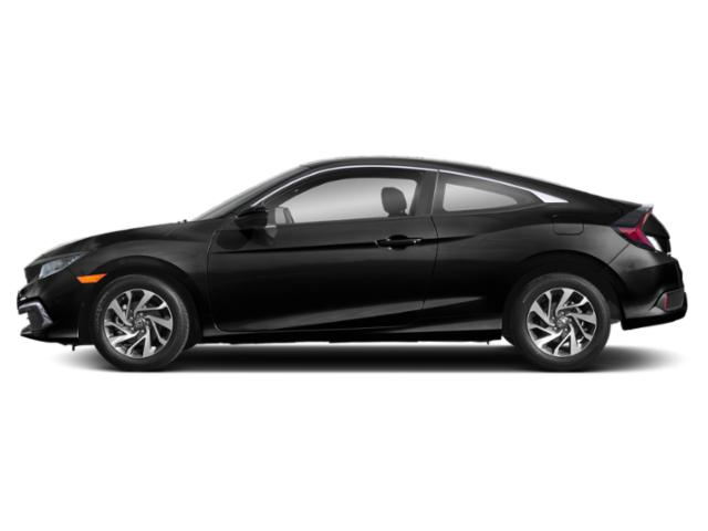 Crystal Black Pearl 2019 Honda Civic Coupe Pictures Civic Coupe LX CVT photos side view