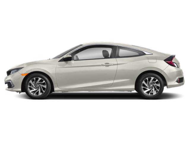 Platinum White Pearl 2019 Honda Civic Coupe Pictures Civic Coupe LX CVT photos side view