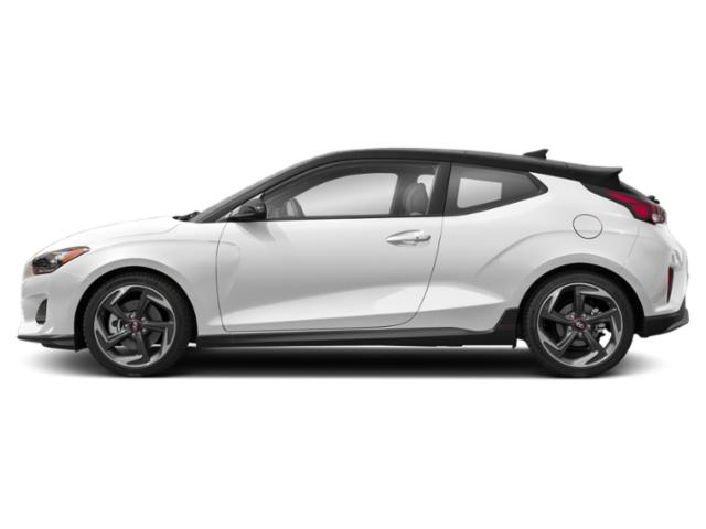 Chalk White w/Black Roof 2019 Hyundai Veloster Pictures Veloster Turbo Ultimate DCT photos side view