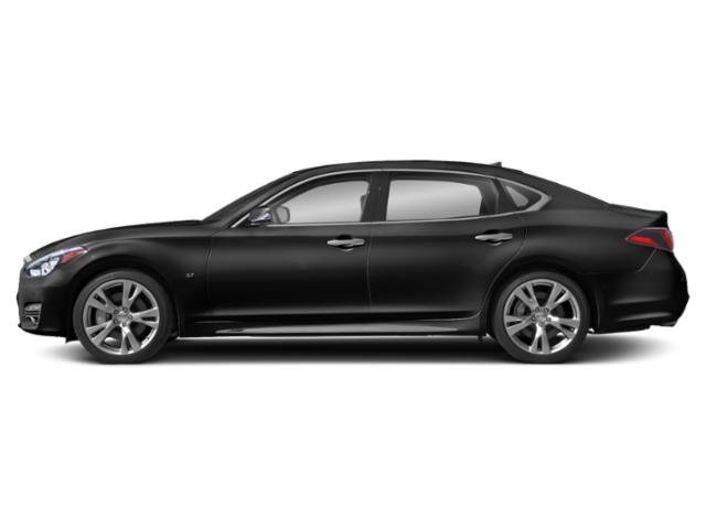Black Obsidian 2019 INFINITI Q70L Pictures Q70L 3.7 LUXE AWD photos side view