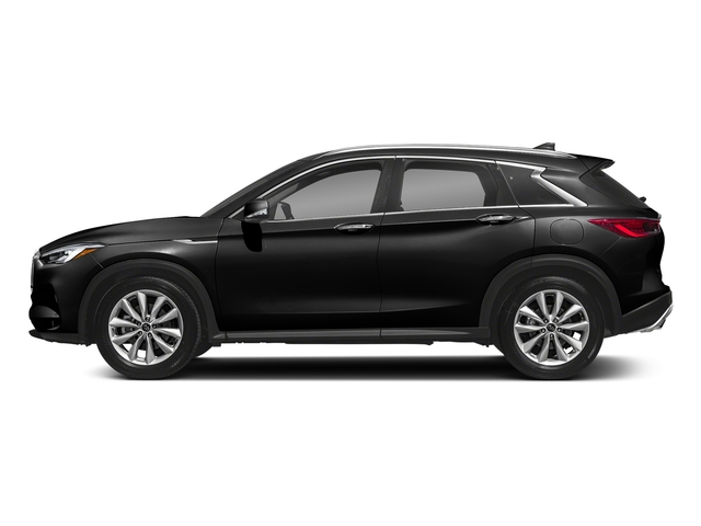 Black Obsidian 2019 INFINITI QX50 Pictures QX50 LUXE FWD photos side view