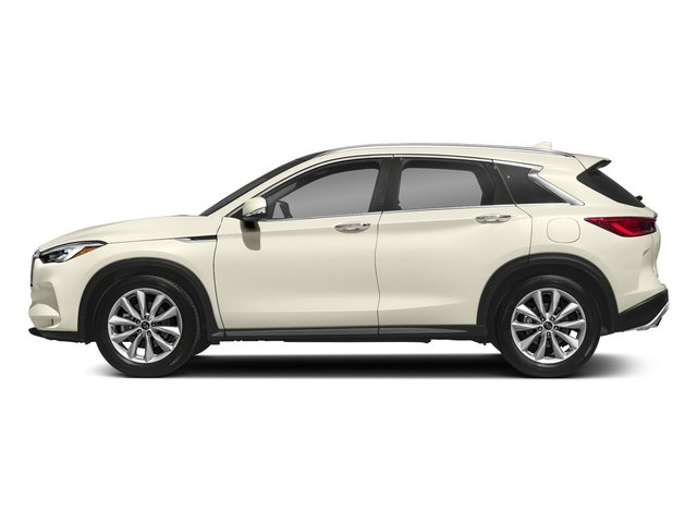 Majestic White 2019 INFINITI QX50 Pictures QX50 LUXE FWD photos side view
