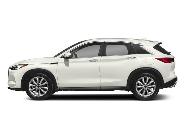 Lunar White 2019 INFINITI QX50 Pictures QX50 LUXE FWD photos side view