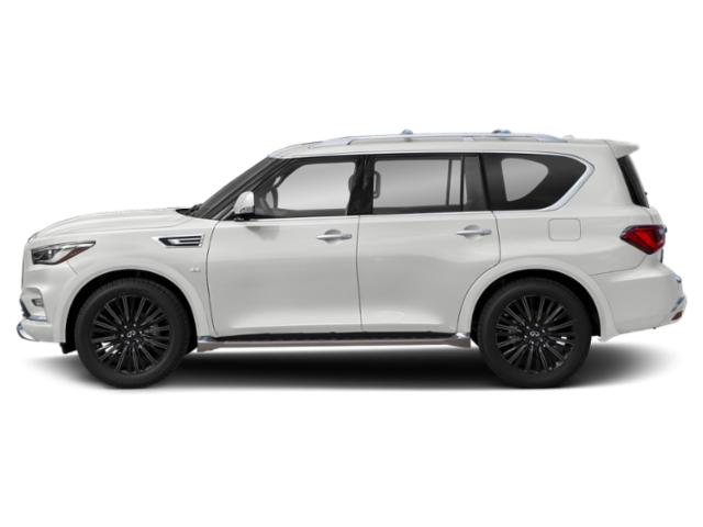 Moonstone White 2019 INFINITI QX80 Pictures QX80 LIMITED AWD photos side view