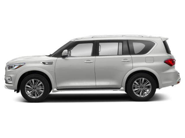 Moonstone White 2019 INFINITI QX80 Pictures QX80 LUXE AWD photos side view