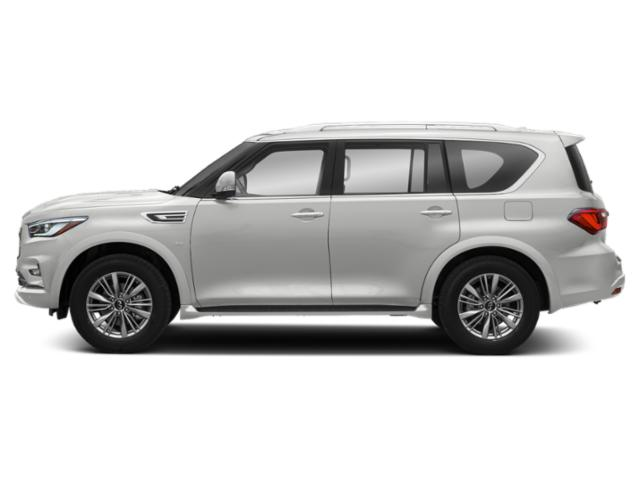 Moonstone White 2019 INFINITI QX80 Pictures QX80 LUXE RWD photos side view