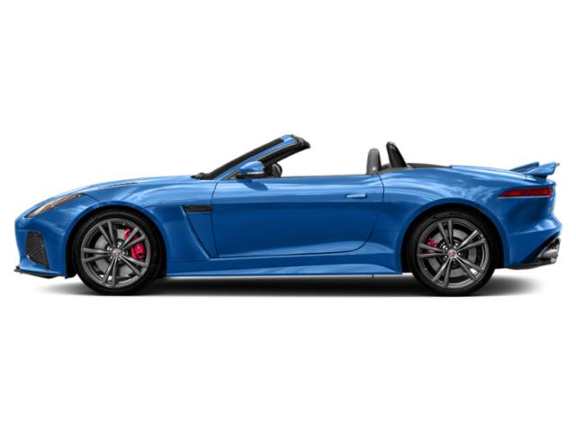 Ultra Blue Metallic 2019 Jaguar F-TYPE Pictures F-TYPE Convertible Auto SVR AWD photos side view