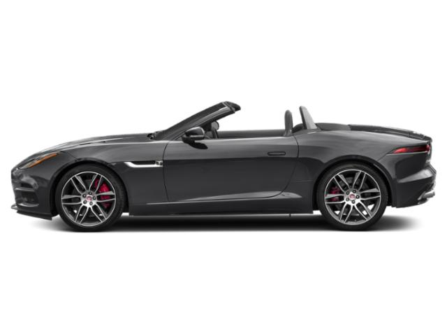Carpathian Grey 2019 Jaguar F-TYPE Pictures F-TYPE Convertible Auto R-Dynamic photos side view