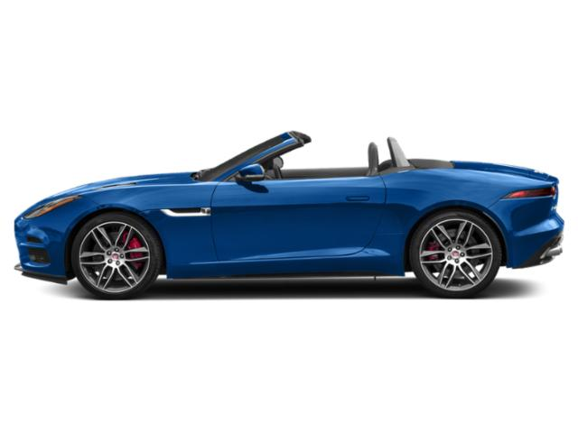 Ultra Blue Metallic 2019 Jaguar F-TYPE Pictures F-TYPE Convertible Auto R-Dynamic photos side view