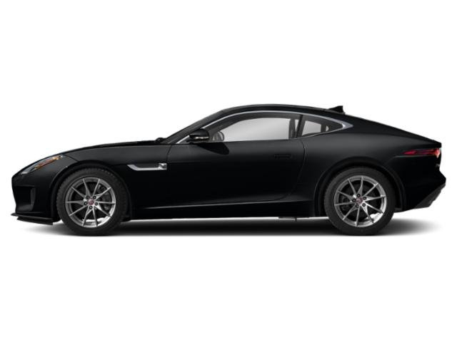 Santorini Black Metallic 2019 Jaguar F-TYPE Pictures F-TYPE Coupe Auto P300 photos side view