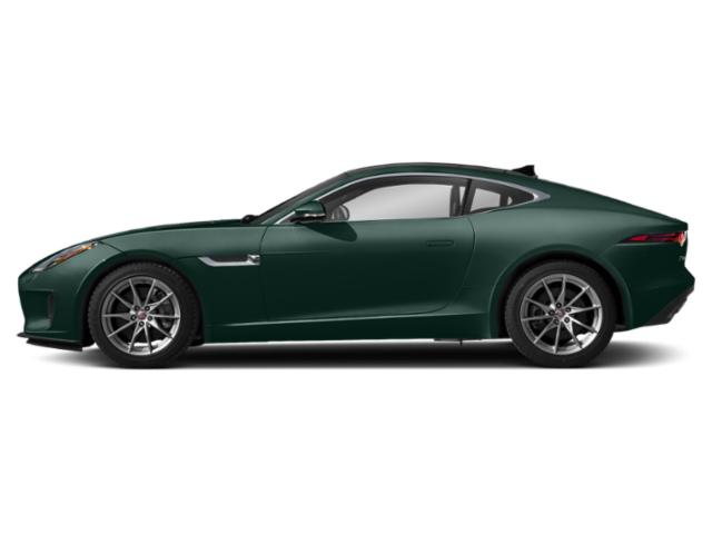 British Racing Green Metallic 2019 Jaguar F-TYPE Pictures F-TYPE Coupe Auto P300 photos side view