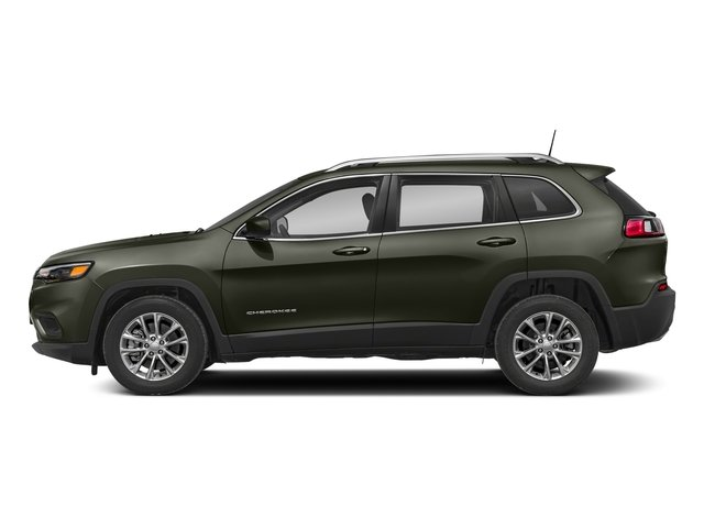 Olive Green Pearlcoat 2019 Jeep Cherokee Pictures Cherokee Latitude Plus FWD photos side view