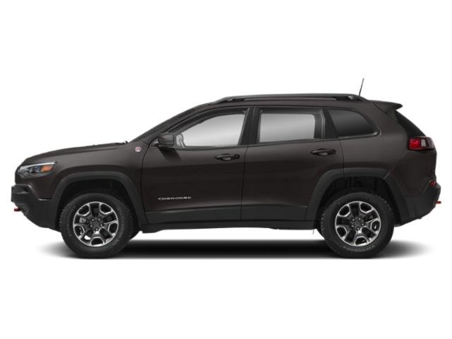 Granite Crystal Metallic Clearcoat 2019 Jeep Cherokee Pictures Cherokee Trailhawk Elite 4x4 photos side view