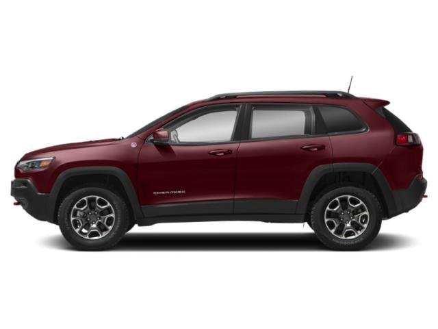 Velvet Red Pearlcoat 2019 Jeep Cherokee Pictures Cherokee Trailhawk Elite 4x4 photos side view
