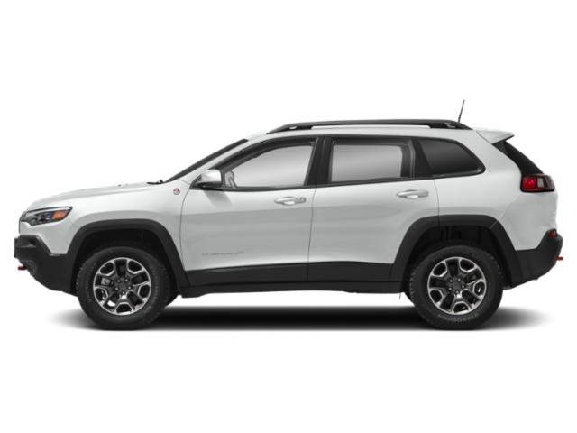 Bright White Clearcoat 2019 Jeep Cherokee Pictures Cherokee Trailhawk Elite 4x4 photos side view