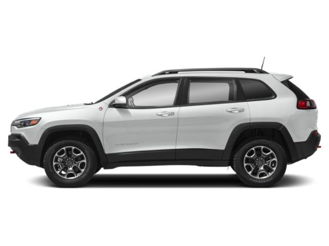 Bright White Clearcoat 2019 Jeep Cherokee Pictures Cherokee Trailhawk 4x4 photos side view