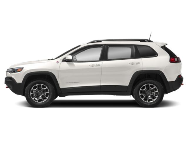 Pearl White Pearlcoat 2019 Jeep Cherokee Pictures Cherokee Trailhawk 4x4 photos side view