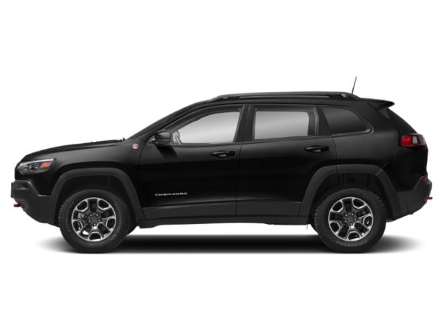Diamond Black Crystal Pearlcoat 2019 Jeep Cherokee Pictures Cherokee Trailhawk Elite 4x4 photos side view