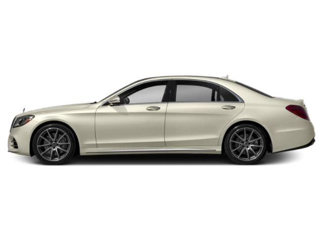 designo Diamond White 2019 Mercedes-Benz S-Class Pictures S-Class S 450 4MATIC Sedan photos side view