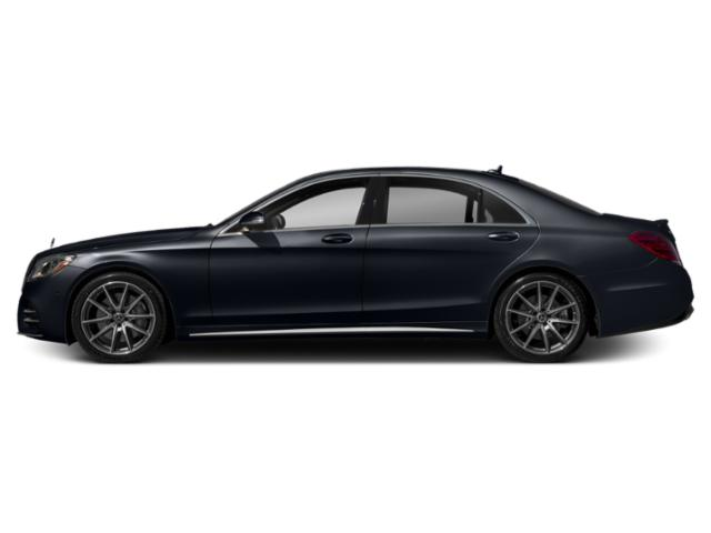 Anthracite Blue Metallic 2019 Mercedes-Benz S-Class Pictures S-Class S 450 4MATIC Sedan photos side view
