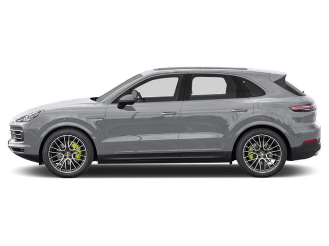 Rhodium Silver Metallic 2019 Porsche Cayenne Pictures Cayenne E-Hybrid AWD photos side view