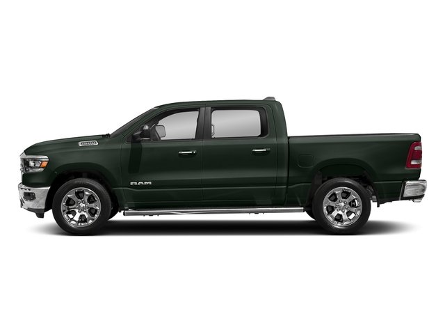 Black Forest Green Pearlcoat 2019 Ram Truck 1500 Pictures 1500 Laramie 4x2 Crew Cab 6'4 Box photos side view