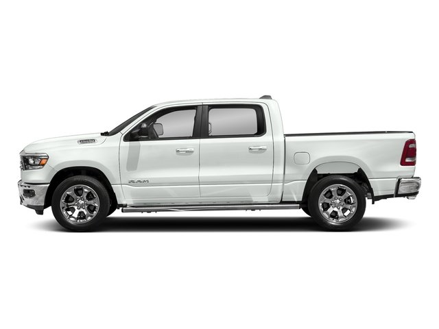 Bright White Clearcoat 2019 Ram Truck 1500 Pictures 1500 Tradesman 4x2 Crew Cab 5'7 Box photos side view