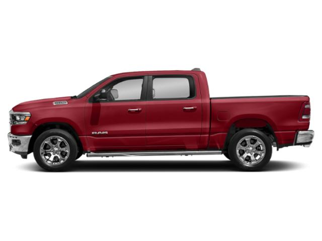 Flame Red Clearcoat 2019 Ram Truck 1500 Pictures 1500 Tradesman 4x4 Crew Cab 6'4 Box photos side view