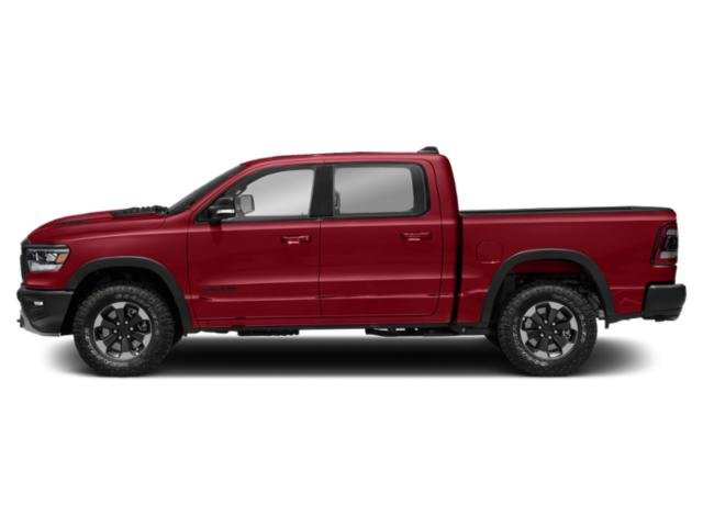 Flame Red Clearcoat 2019 Ram Truck 1500 Pictures 1500 Rebel 4x4 Crew Cab 5'7 Box photos side view