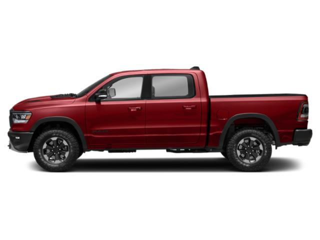 Flame Red Clearcoat 2019 Ram Truck 1500 Pictures 1500 Tradesman 4x4 Crew Cab 5'7 Box photos side view
