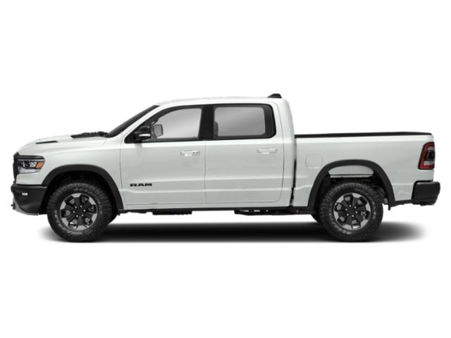 Bright White Clearcoat 2019 Ram Truck 1500 Pictures 1500 Rebel 4x4 Crew Cab 5'7 Box photos side view