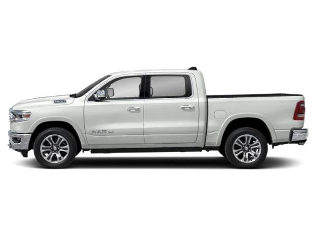 Ivory White Tri-Coat Pearlcoat 2019 Ram Truck 1500 Pictures 1500 Longhorn 4x4 Crew Cab 5'7 Box photos side view