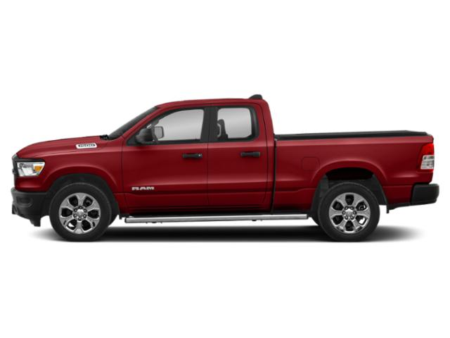 Flame Red Clearcoat 2019 Ram Truck 1500 Pictures 1500 Tradesman 4x4 Quad Cab 6'4 Box photos side view
