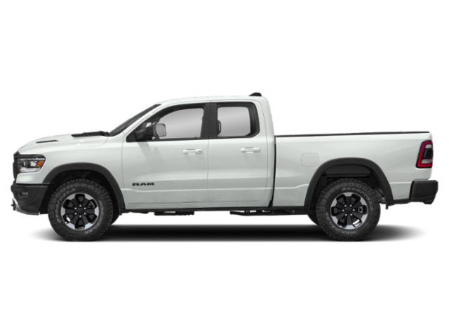 Bright White Clearcoat 2019 Ram Truck 1500 Pictures 1500 Rebel 4x4 Quad Cab 6'4 Box photos side view