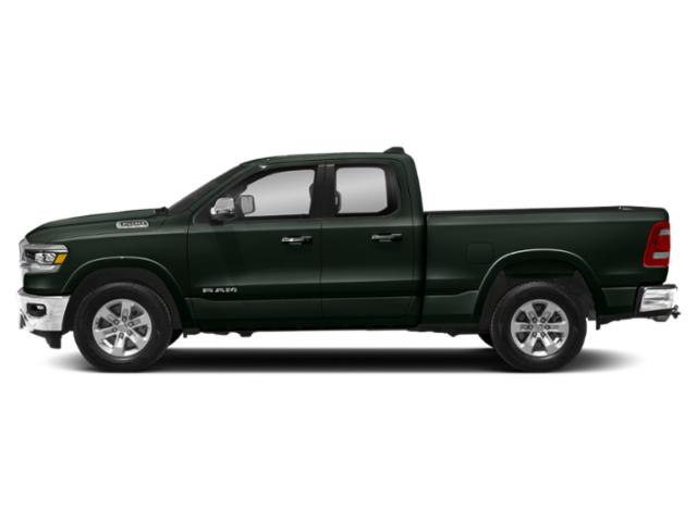 Black Forest Green Pearlcoat 2019 Ram Truck 1500 Pictures 1500 Laramie 4x4 Quad Cab 6'4 Box photos side view