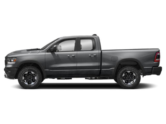 Billet Silver Metallic Clearcoat 2019 Ram Truck 1500 Pictures 1500 Rebel 4x4 Quad Cab 6'4 Box photos side view