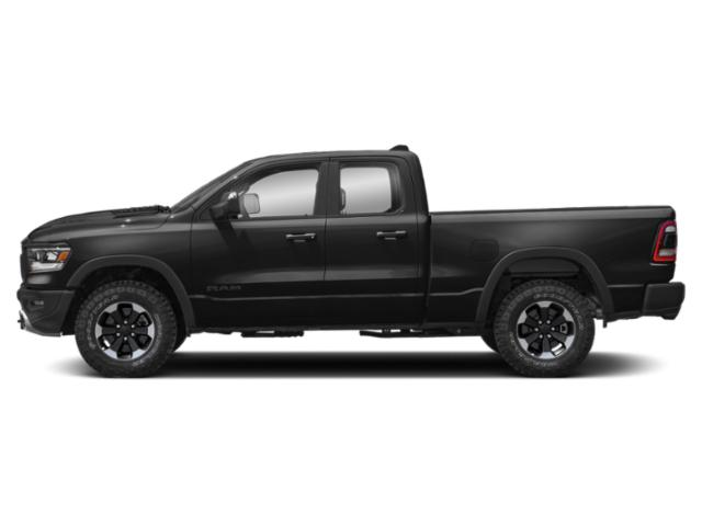 Diamond Black Crystal Pearlcoat 2019 Ram Truck 1500 Pictures 1500 Rebel 4x4 Quad Cab 6'4 Box photos side view