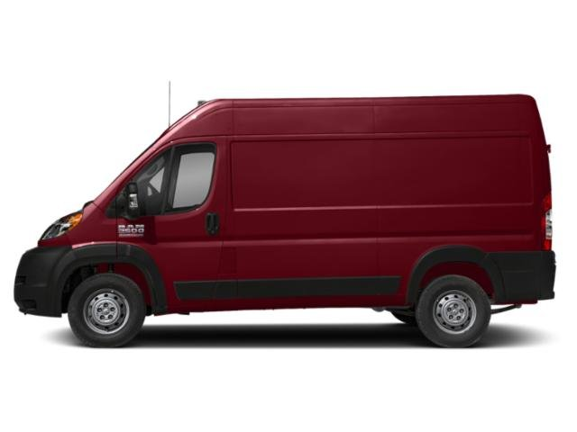Deep Cherry Red Crystal Pearlcoat 2019 Ram Truck ProMaster Cargo Van Pictures ProMaster Cargo Van 2500 High Roof 136 WB photos side view