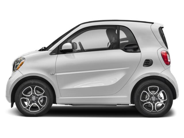White 2019 smart EQ fortwo Pictures EQ fortwo pure coupe photos side view