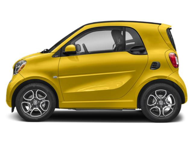 Black-to-Yellow Metallic 2019 smart EQ fortwo Pictures EQ fortwo pure coupe photos side view