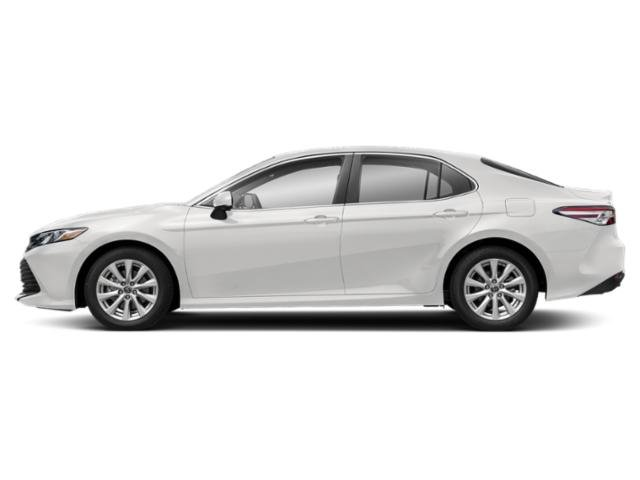 Super White 2019 Toyota Camry Pictures Camry LE Auto photos side view
