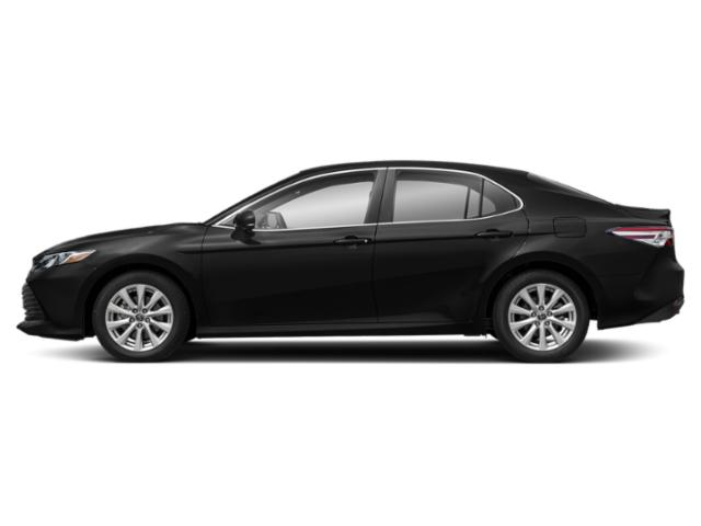 Midnight Black Metallic 2019 Toyota Camry Pictures Camry LE Auto photos side view