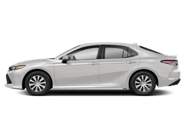Super White 2019 Toyota Camry Pictures Camry Hybrid LE CVT photos side view