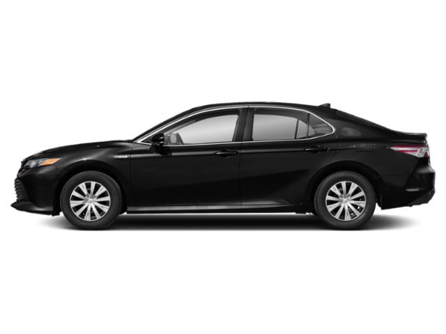 Midnight Black Metallic 2019 Toyota Camry Pictures Camry Hybrid LE CVT photos side view
