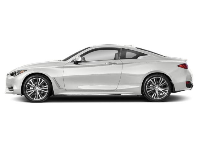 Majestic White 2020 INFINITI Q60 Pictures Q60 3.0t LUXE AWD photos side view