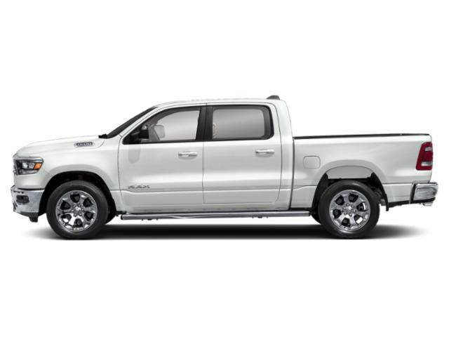 Bright White Clearcoat 2020 Ram Truck 1500 Pictures 1500 HFE 4x2 Quad Cab 6'4 Box photos side view